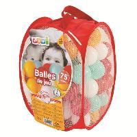 Balles De Piscine A Balles LUDI 75 balles de jeu avec sac de transport Rouge