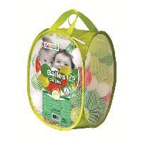 Balles De Piscine A Balles LUDI 75 balles de jeu avec sac de transport Vert