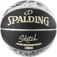 Ballon De Basket-ball Ballon de basket-ball NBA Sketch Swoosh Outdoor - Noir et blanc - Taille 7