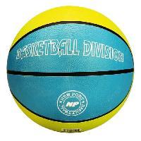 Ballon De Basket-ball NEW PORT Ballon de basketball - Bleu et jaune - Taille 7 - Generique