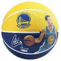 Ballon De Basket-ball SPALDING Ballon de basket-ball NBA Player Stephen Curry - Jaune et bleu - Taille 7