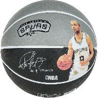 Ballon De Basket-ball SPALDING Ballon de basket-ball NBA Player Tony Parker - Gris et noir - Taille 7