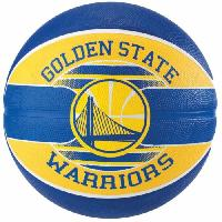 Ballon De Basket-ball SPALDING Ballon de basket-ball NBA Team Golden State - Bleu et jaune - Taille 5