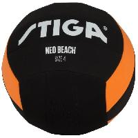 Ballon De Football STIGA Ballon de football et volley Neo beach - Noir et orange - Taille 5