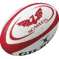 Ballon De Rugby GILBERT Ballon de rugby REPLICA - Scarlets - Taille Midi