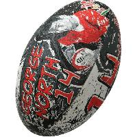 Ballon De Rugby GILBERT Ballon de rugby SUPPORTER - Pays de Galles George North - Taille 5
