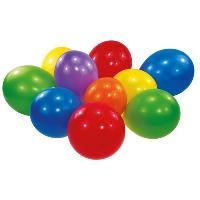 Ballon Decoratif  Et Pompe 100 Ballons latex Coloris assortis 22.8 cm 9''