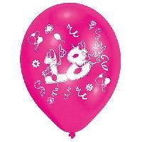 Ballon Decoratif  Et Pompe 8 Ballons - Latex - Nombre 18 - Imprime 2 faces
