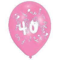 Ballon Decoratif  Et Pompe 8 Ballons - Latex - Nombre 40 - Imprime 2 faces
