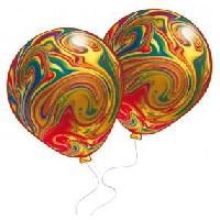 Ballon Decoratif  Et Pompe 8 Ballons marbres - Latex