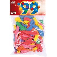 Ballon Decoratif  Et Pompe 99 Ballons unis - Latex - Coloris assortis