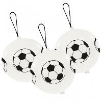 Ballon Decoratif  Et Pompe Lot de 3 Punchballs - Foot - Amscan