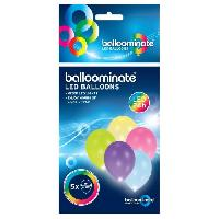 Ballon Decoratif  Et Pompe Lot de 5 Ballons avec LED - Latex - 27.5 cm - Coloris assortis - Amscan