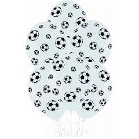 Ballon Decoratif  Et Pompe Lot de 6 Ballons - Latex - Ballons de foot - Imprimé tous côtés - Amscan