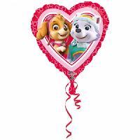 Ballon Decoratif  Et Pompe PAT'PATROUILLE Ballon - Aluminium - Coeur - Rose - Amscan