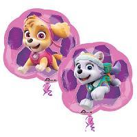 Ballon Decoratif  Et Pompe PAT'PATROUILLE Ballon - Fille - Rose - Amscan