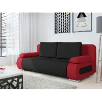 Banquette EMMA Banquette convertible - Tissu rouge et  noir - Aucune