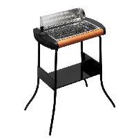 Barbecue De Table - Electrique 319002 CONCEPT Barbecue grill avec pied 40x28 - 2300 W - Noir