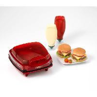 Barbecue De Table - Electrique ARIETE 185 Appareil a Burger - 1400W - Rouge