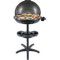 Barbecue De Table - Electrique STEBA 061600 VG325 Grill BBQ - 2200 W - Plaque de cuisson XXL diametre 48 cm - Noir et gris