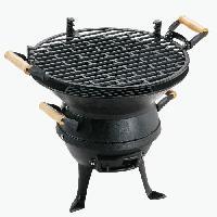 Barbecue GRILL CHEF Barbecue pot Classic - Grille en fonte - Surface de cuisson Ø 35 cm - Greforest