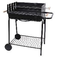 Barbecue TEIDE Barbecue a charbon - Acier chrome - 88.5x56x94 cm