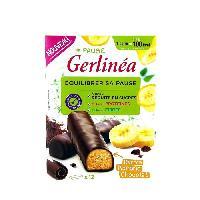Barre De Cereale GERLINEA Barres energetique a la banane enrobees de chocolat noir - 372 g