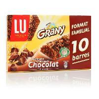 Barre De Cereale GRANY 10 barres 5 cereales chocolat