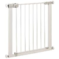 Barriere De Securite Bebe SAFETY 1ST Barriere Simply Close metal white