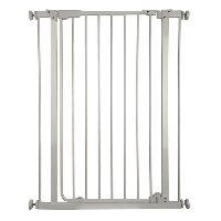 Barriere De Securite Escalier - Porte Barriere Bob - H 95 cm - Blanc - Pour chiens et chats