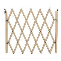 Barriere De Securite Escalier - Porte Barriere Stopfix extensible en bois - Pour chien