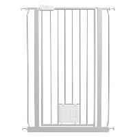 Barriere De Securite Escalier - Porte Barriere avec chatiere Dog et Cat high en metal - Pour chien