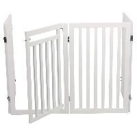 Barriere De Securite Escalier - Porte Barriere avec porte - 60 160 x 81 cm - Blanc - Pour chien