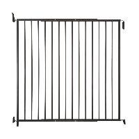 Barriere De Securite Escalier - Porte Barriere d'exterieur Tom - H 105 cm - Noir - Pour chiens de grande taille