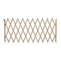 Barriere De Securite Escalier - Porte Barriere en bois accordeon - 60-230 cm - Brun - Pour chiens et chats