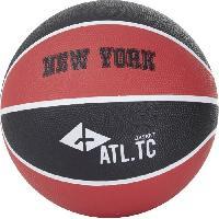 Basket-ball ATHLI-TECH Ballon de basket-ball New York - Taille 5 - Noir et rouge