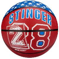 Basket-ball NEW PORT Ballon de basketball - Rouge et Bleu - Taille 7 Generique