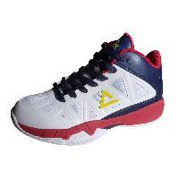 Basket-ball PEAK Chaussures de basketball Game 1 - Enfant - Blanc et bleu marine - 37 - Aucune