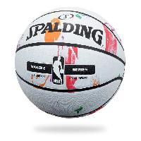 Basket-ball SPALDING Ballon de basket-ball NBA Marble Mc Outdoor - Blanc - Taille 7