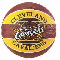 Basket-ball SPALDING Ballon de basket-ball NBA Team Cleveland Cavaliers - Grenat et jaune - Taille 5