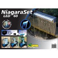 Bassin D'exterieur Kit lame d'eau Niagara LED 60 avec pompe + acc