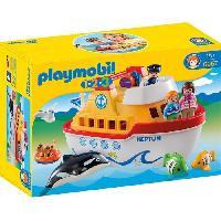 Bateau - Sous-marin Miniature PLAYMOBIL 1.2.3 6957 Navire transportable