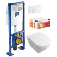 Bati Support VILLEROY & BOCH Pack WC sans bride O.Novo DirectFlush  + Bati Support Viconnect