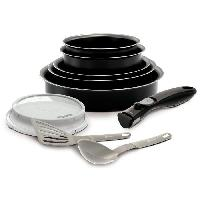 Batterie De Cuisine BACKEN EASYCOOK Batterie de cuisine 10 pieces - O 16-18-20-22-26 cm - Noir