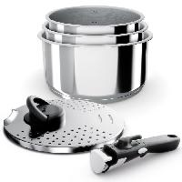 Batterie De Cuisine BACKEN Set de Casseroles - Inox - 5 pieces - Tous feux dont induction