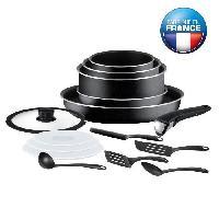 Batterie De Cuisine INGENIO ESSENTIAL Batterie de cuisine 15 pieces L2009502 16-18-20-26cm noir Tous feux sauf induction