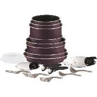 Batterie De Cuisine INGENIO ESSENTIAL Batterie de cuisine 20 pieces L2029702 16-18-20-24-26-28cm Tous feux sauf induction