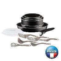 Batterie De Cuisine TEFAL INGENIO ESSENTIAL Batterie de cuisine 15 pieces L2009202 16-18-20-26 cm Tous feux sauf induction