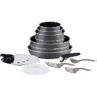 Batterie De Cuisine TEFAL L2048802 Batterie de cuisine 15 pieces INGENIO MINUTE - Gris anthracite