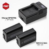 Batterie Photo - Optique 2 x batteries NP-FW50 . NPFW50 + chargeur pour Sony - MP EXTRA